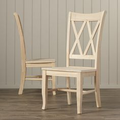 Mistana Lynn Cross Back Solid Wood Dining Chair Solid Wood Dining Chairs, Upholstered Dining Chairs, Dining Chair Set, Dining Room Chairs, Dining Furniture, Dinning Table, Dining Area, Dining Rooms, Cool Chairs
