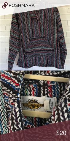 "Earth Ragz ""Drug Rug"" Sweater Size M Purchased at a music festival  Worn once Could me a male or females Earth Sweaters"