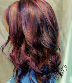 mermaid hair #mermaidhair #pinkhair #purplehair #hairby_mbaxleypierle