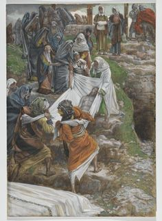 James Tissot, Life of Christ. The Body of Jesus Carried to the Anointing Stone Life Of Jesus Christ, Jesus Christ Images, Jesus Art, Bible Pictures, Jesus Pictures, Religious Images, Religious Art, Jesus Burial, Spiritual Paintings