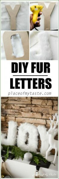 Easy Fashion-Forward Faux Fur Letters