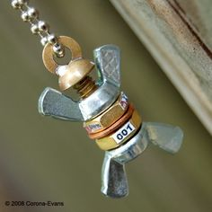 BOB in the Buff Model 001 Necklace by SomethingWhimsical on Etsy