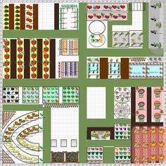 Garden Plan - 2014: The Guilds of Samsara, fantastic planting scheme with some great diversity and great companion planting.