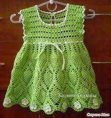 vestidos em croche infantil