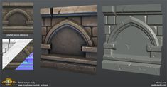 Explorations in sculpting tiling textures. Concepts/references used are from…