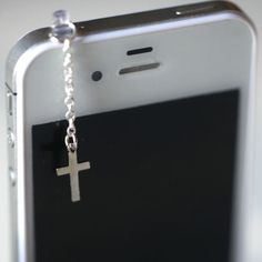 Silver Cross IPhone charm