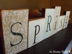 blocks with any name or word!