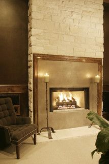 Living room - fireplace framed like artwork - gorgeous | A Waters