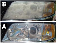 How to: clean foggy headlights.     Cooking oil works to lubricate and lift dirt and residue from car headlights. Use an oil-based cooking spray or a simple bottle of vegetable oil. Rub onto the headlight with a cloth or soft brush, scrubbing to remove any built-in residue.    Toothpaste and Baking Soda: In a dish, combine a spoonful of toothpaste with a spoonful of baking soda. This will create an easy-to-apply paste that you can use with an old toothbrush or rough sponge. Rub directly onto the Car Cleaning Hacks, Car Hacks, Diy Cleaning Products, Cleaning Supplies, Clean Foggy Headlights, Car Headlights, Polish Headlights, Headlight Cleaner, Cleaning