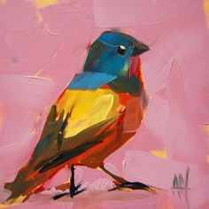 Painted Bunting by Angela Moulton.