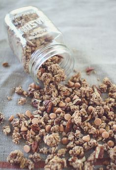 Pecan Pie Granola~ Good for Breakfast, a Snack, or even Dessert! I'm Telling You- This Granola is SOOO Good!   (Low Sugar, Gluten Free, Clean Eating) soccer snack ideas for kids #soccer #kids #recipe