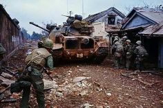 M48 during Tet offensive at Hue citidel