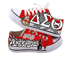 Cute! Delta Sigma Theta custom sneakers