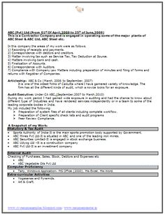 excellent resume format free 2 - Excellent Resume Formats