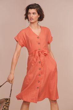 8d1a0c9d87 Buy Button Through Linen Dress from the Next UK online shop