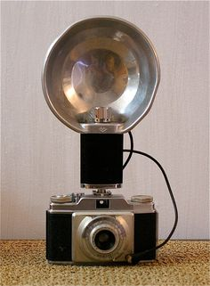 Vintage Agfa Silette Camera with Agfa Flash Unit by CanemahStudios, $35.00