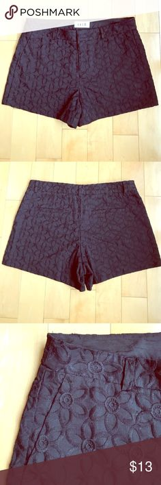 🎉HP🎉ELLE Black Embroidered Shorts ELLE Black Shorts with an embroidered flower pattern. 100% Cotton. PRICE IS FIRM! EUC, ELLE Shorts
