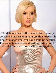 Christina Aguilera, quote, inspiration, confidence, glamour, bitch #christinaaguilera #xtina