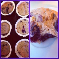 Sukkerfri baban/blåbærmuffins