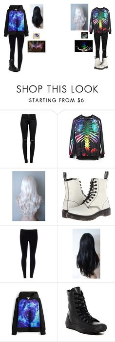 """Untitled #408"" by melindaisinsane ❤ liked on Polyvore featuring J Brand, Dr. Martens, Masquerade, Converse, galaxy and rainbow"