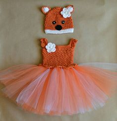 Hey, I found this really awesome Etsy listing at https://www.etsy.com/listing/265740856/crochet-fox-tulle-tutu-dress-matching