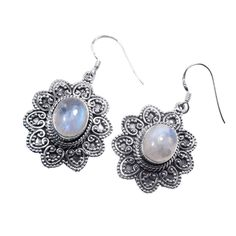 Sterling Silver Rainbow Moonstone Earrings  I love vintage jewelry designs! Time Keepers Cottage at Walter Forge