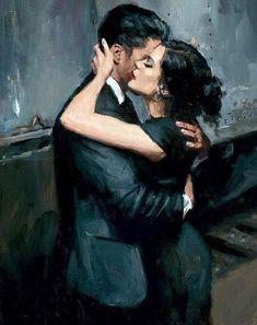 Romantic Paintings, Beautiful Paintings, Romantic Artwork, Art Pop, Art Sketches, Art Drawings, Fabian Perez, Romance Art, Illustration Art