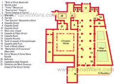 Map of florence duomo santa maria del fiore planetware for Top rated floor plans