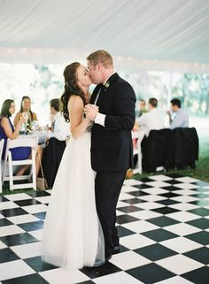 Elegant, Picnic, Summer Wedding, black and white checkered