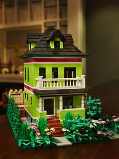 Lego version of the colorful, playful Pelletier-Pasco house in Seattle's Capitol Hill | The Seattle Times
