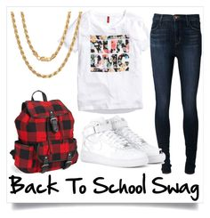 """BTS Swag"" by janelgilmore on Polyvore featuring H&M, J Brand, NIKE, Sterling Essentials and Aéropostale"