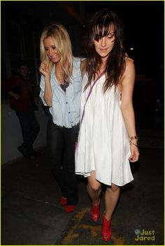 Ashley Tisdale & Emma Lahana at Celebrity HotSpot Beso Hollywood: March 17, 2012