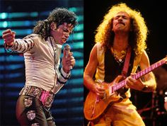 """Grammy Heavy Hitters: Michael Jackson and Carlos Santana share the distinction of having won eight Grammys in one night, the most awards anyone has taken home in a single ceremony. The King of Pop won his eight Grammys in 1984 for """"Thriller"""", in categories such as Album of the Year and Best R&B Song (for """"Billie Jean""""). Santana won his eight Grammys in 2000 for """"Supernatural"""", taking Best Rock Album and, with Rob Thomas and Itaal Shur, Song of the Year for """"Smooth""""."""