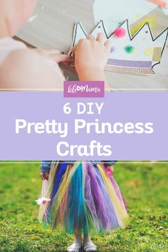 If you have a little one who is obsessed with princesses, try making a few of these glamorous DIY princess crafts for a lot of extra fun. | #lifeasmama #crafts #princess #kidscrafts #diy #princesscrafts Craft Projects For Kids, Fun Crafts For Kids, Arts And Crafts Projects, Craft Ideas, Easy Diys For Kids, Easy Arts And Crafts, Winter Activities For Kids, Fun Activities, Random Kid