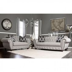 Furniture of America,Viviana Sofa SM2291 For $1070