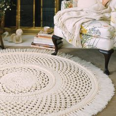 Craftdrawer Crafts: Crochet a Rug in the Shape of a Doily Pattern