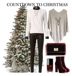 """""""COUNTDOWN TO CHRISTMAS"""" by cashmererebeluk ❤ liked on Polyvore featuring Frontgate, Frame, Exclusive for Intermix, Jimmy Choo, Lene Bjerre and Chanel"""