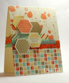 Hexagons on Retro Fresh DSP, Gorgeous Grunge, and Washi Tape, from Dawn Tidd