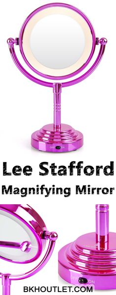 The Lee Stafford Illuminated Magnifying Mirror - Complete Your Dressing Table and Make Your Makeup Routine a Breeze Double sided, 360 degree rotating design that's easily adjustable ensuring you look flawless from every angle. │skin care │beauty tips │skin care products │beauty products │facial cleanser #skincare #beautytips #skincareproducts #beautyproducts #facialcleanser