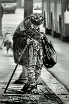 homeless / silhouette, detail