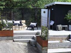 Bergstomten i Nacka - Chrisp Design - Hello Outdoor Balcony, Pergola Patio, Outdoor Spaces, Outdoor Gardens, Outdoor Living, Backyard, Outdoor Decor, Patio Design, Exterior Design