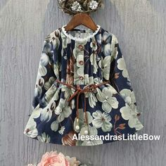 da4c1e4caa01e 2017 New Arrival Girls Long Sleeve Princess Dress Flowers Printed High  Quality Kids Dresses Casual Baby Girl Clothing 2 Color