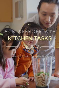 Age appropriate kitchen tasks for kids - What's Cooking with Kids