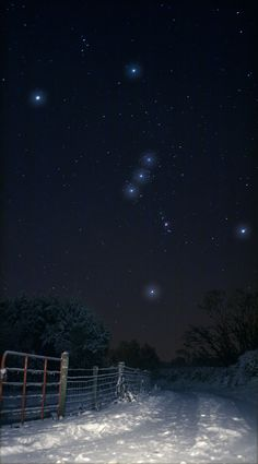 Snowy Orion   Gleneely, Donegal, Ireland