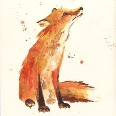 FOX Art - tattoo inspiration; would be even better if it also had a fox kit next to it