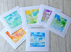 CAS Watercolour entries from Ros