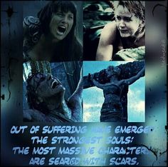 Xena warrior princess, Xena and Gabrielle fanart, Lucy Lawless, Renée O'Connor, warrior quote, suffering