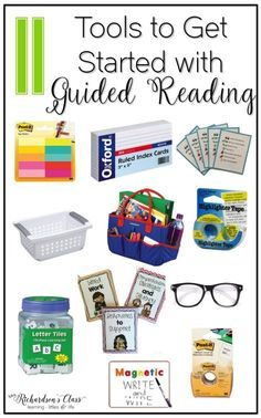 These 11 things are a must-have for guided reading tools! They are everything you need to get started and keep groups running smoothly! I love the explanations that she shares for each of them, too!