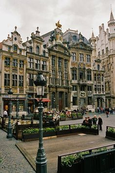 Brussels, Belgium. It's an amazing place, this old towne market square was spared during the wars and has buildings for all the tradesmen.