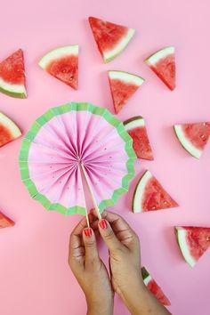 DIY Watermelon Fans
